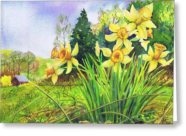 Wild Daffodils Greeting Card by Susan Herbst