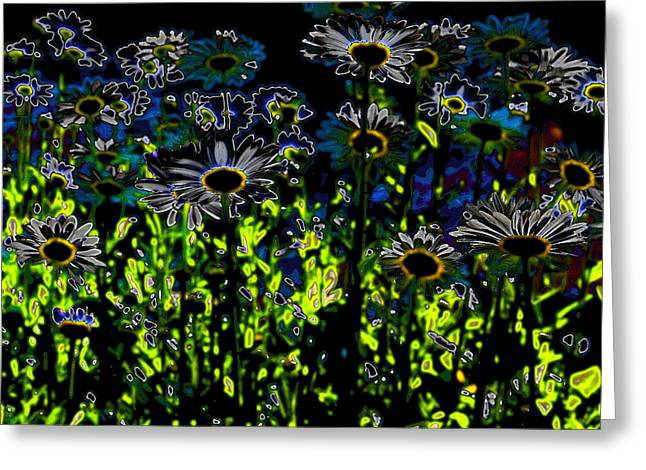Wild Daisies Iv Greeting Card by David Patterson