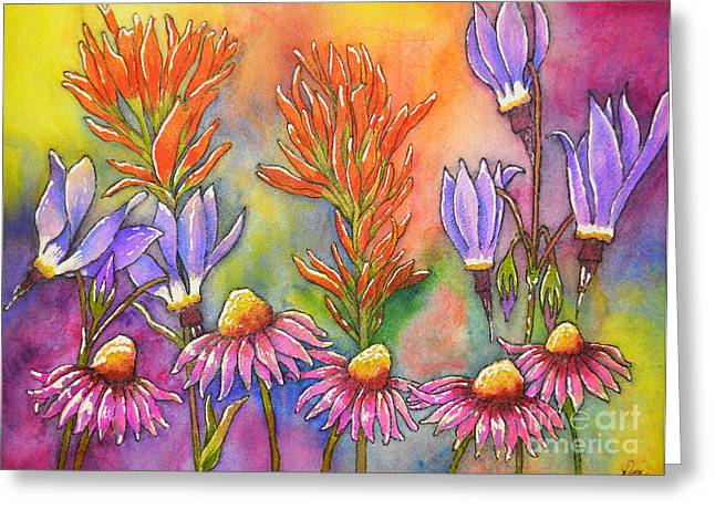 Wild Flower Memories Greeting Card by Dion Dior