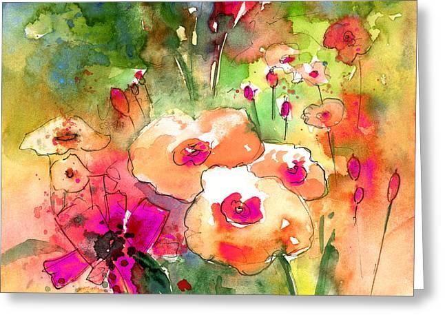 Wild Flowers 07 Greeting Card by Miki De Goodaboom
