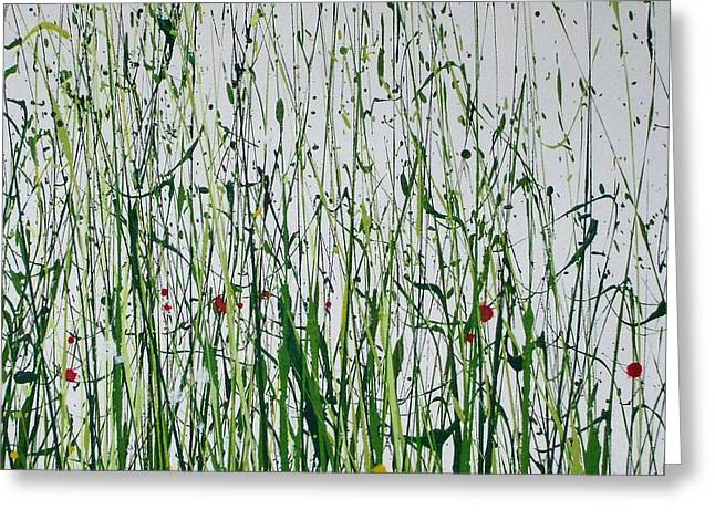 Wild Flowers And  Grasses No 4 Greeting Card by Mike   Bell