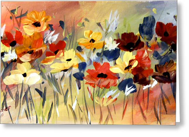 Greeting Card featuring the painting Wild Flowers by Dorothy Maier