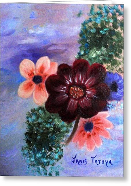 Wild Flowers Greeting Card by Janis  Tafoya
