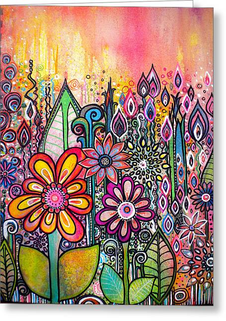 Wild Flowers Greeting Card by Robin Mead
