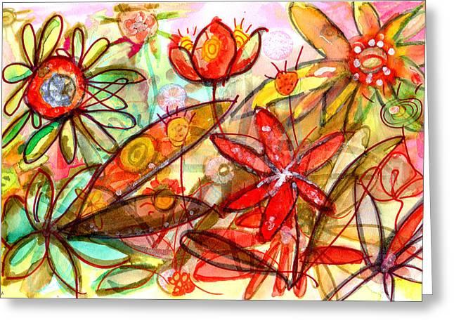 Wild Flowers Series #1 Greeting Card by Niya Christine