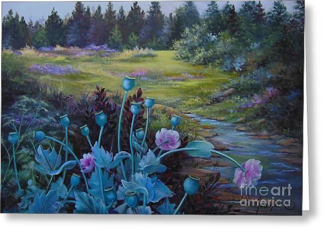 Wild Garden Greeting Card by Jean  Yanowski