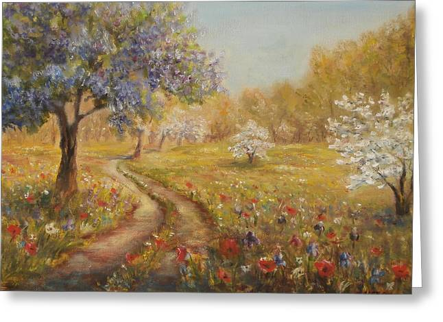 Wild Garden Path Greeting Card