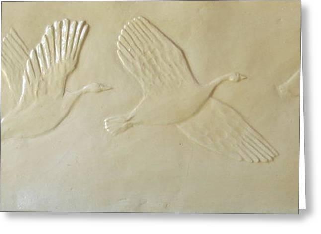 Wild Geese Greeting Card by Deborah Dendler
