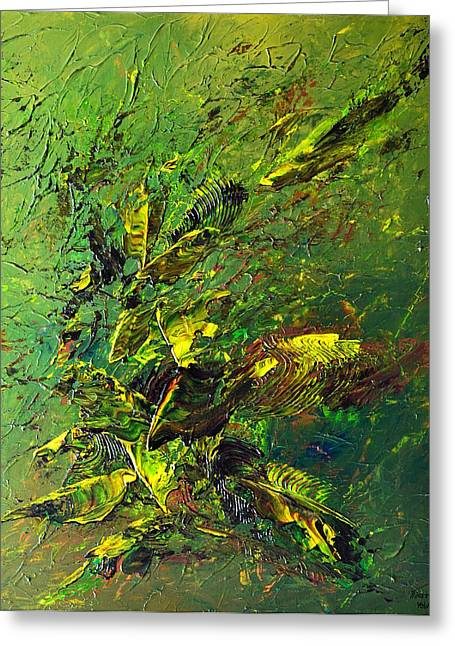 Wild Green Greeting Card by Thierry Vobmann