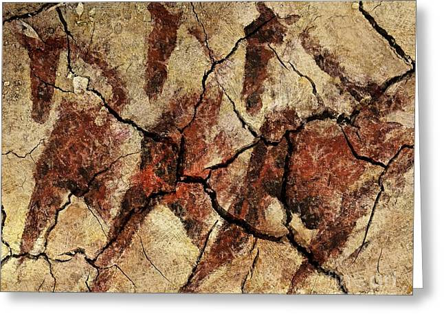 Wild Horses - Cave Art Greeting Card by Dragica  Micki Fortuna