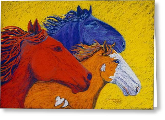 Wild Horses II Greeting Card