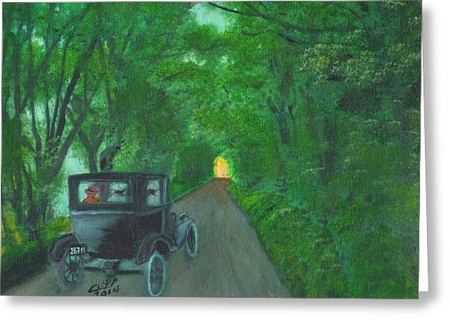 Wild Irish Roads Greeting Card
