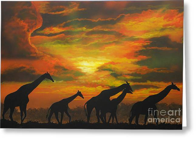 Wild Greeting Card by Mark Henry