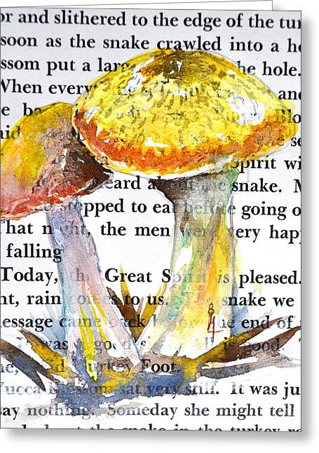 Wild Mushrooms Greeting Card by Beverley Harper Tinsley