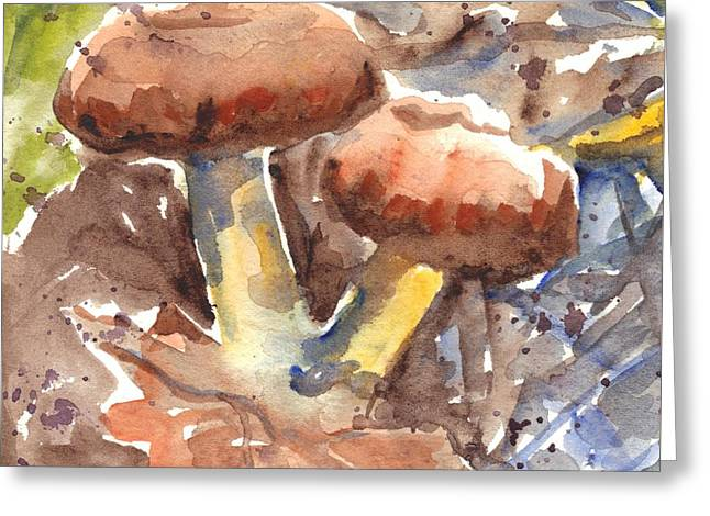 Wild Mushrooms Greeting Card