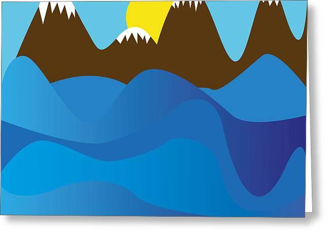 Wild Ocean Greeting Card by Kenneth Feliciano