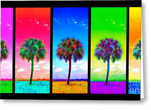 Wild Palms X5 Greeting Card