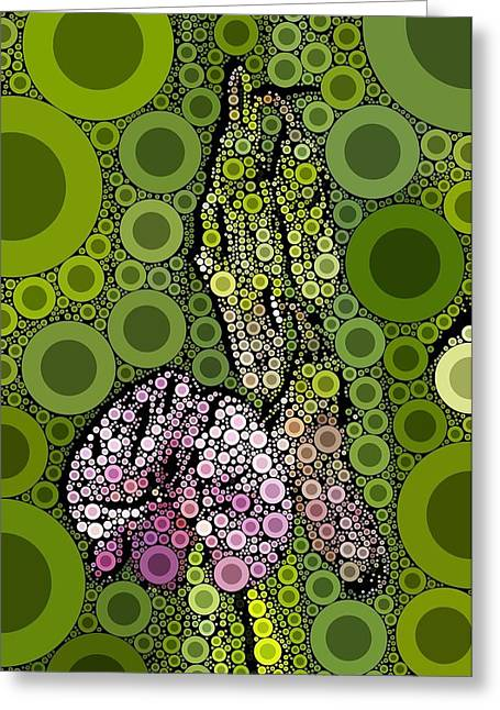 Wild Pea Abstracted Greeting Card