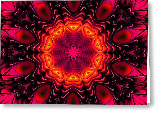 Greeting Card featuring the digital art Wild Pink by Hanza Turgul