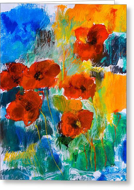 Wild Poppies Greeting Card by Elise Palmigiani