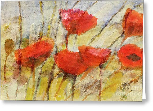Wild Poppies Greeting Card by Lutz Baar