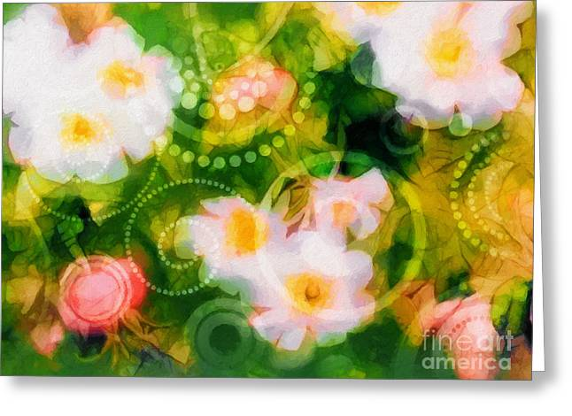 Wild Roses Greeting Card by Lutz Baar