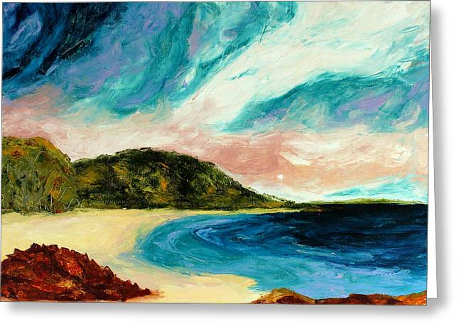 Wild Sky Over The Bay Greeting Card by Scott Jackson