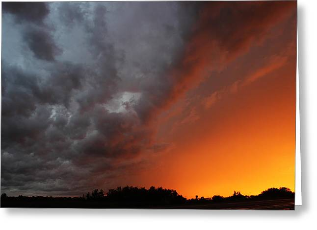 Wild Storm Clouds Over Yorkton Greeting Card