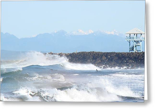 Wild Waves  Greeting Card by Beverly Guilliams