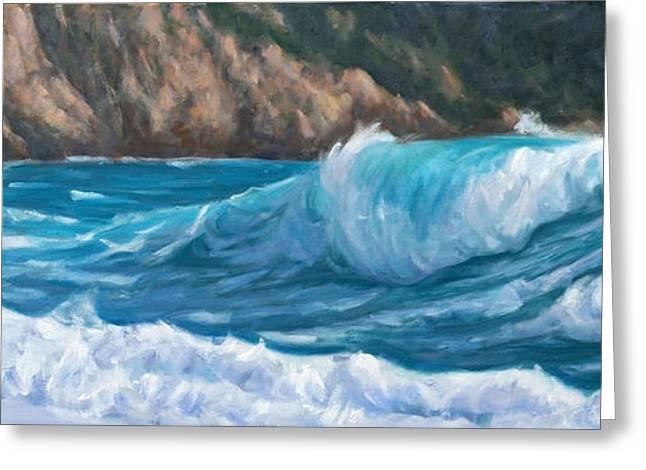 Wild Waves Greeting Card by Marco Busoni