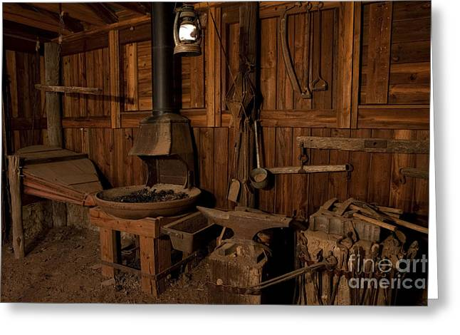 Greeting Card featuring the photograph Wild West Blacksmith by Keith Kapple