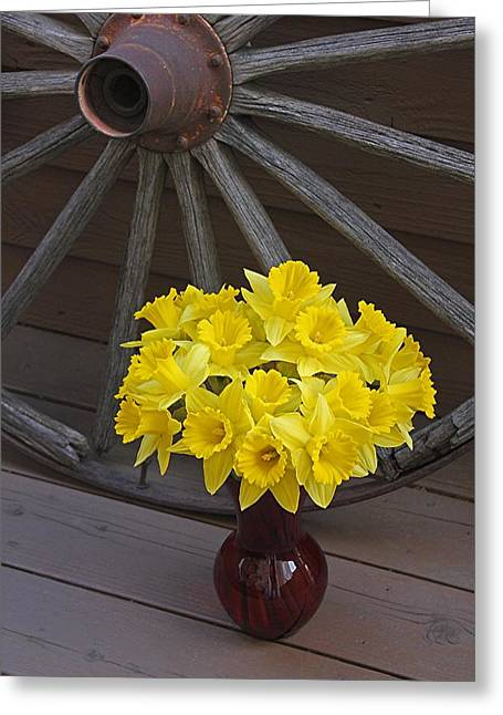 Greeting Card featuring the photograph Wild West Daffodils by Diane Alexander