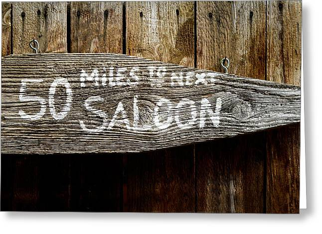 Wild West Saloon Sign Greeting Card