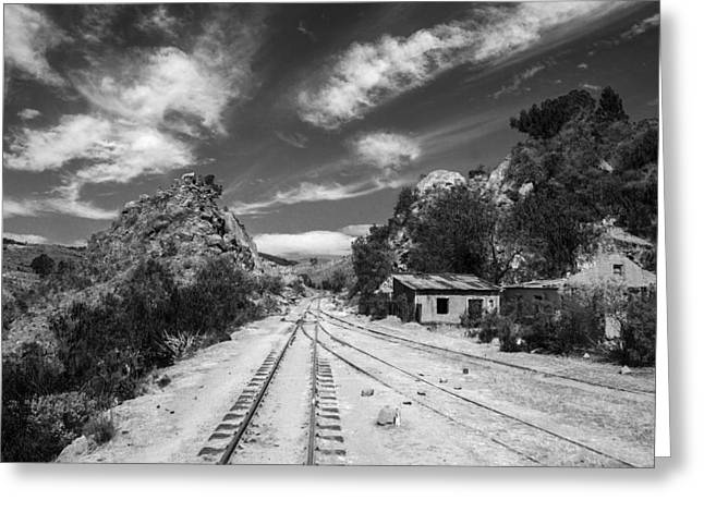 Wild Wild West Bolivia Black And White Greeting Card by For Ninety One Days