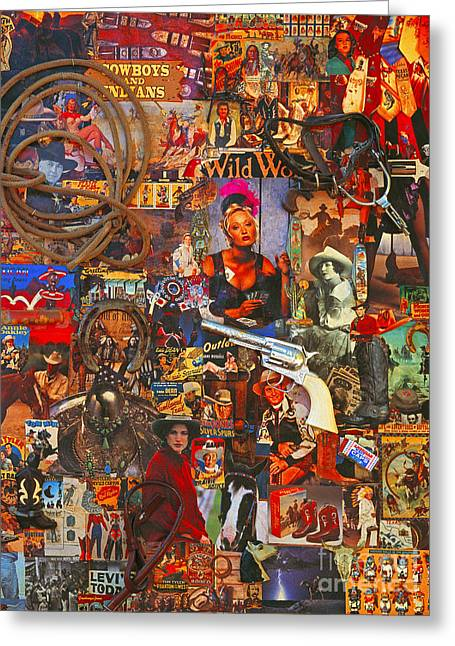 Wild Women Of The West Art Poster Greeting Card