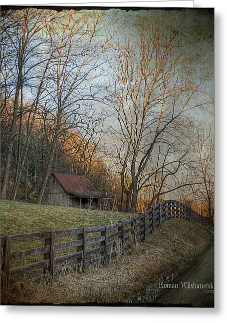 Wildcat Road Cabin Greeting Card