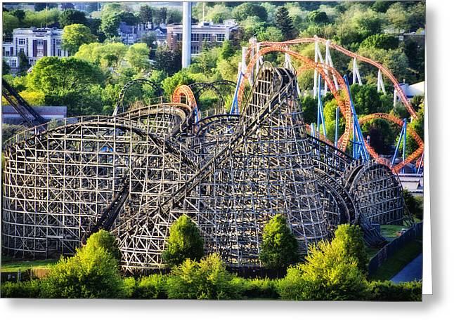 Wildcat Roller Coaster - Hershey Park Greeting Card