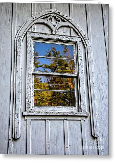 Wilderness Church Window Greeting Card