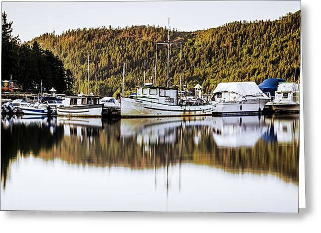 Wilderness Fishing Boats Greeting Card