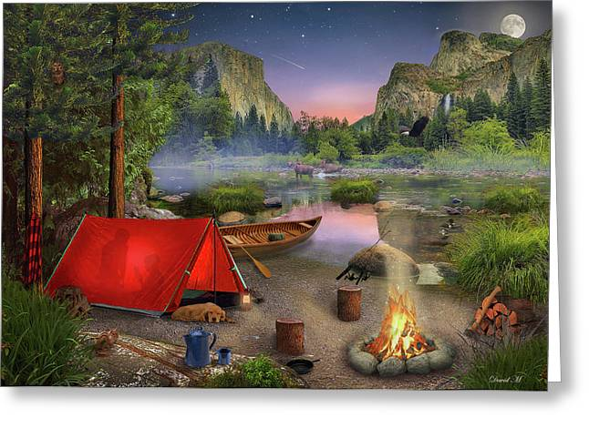 Wilderness Trip Greeting Card by David M ( Maclean )