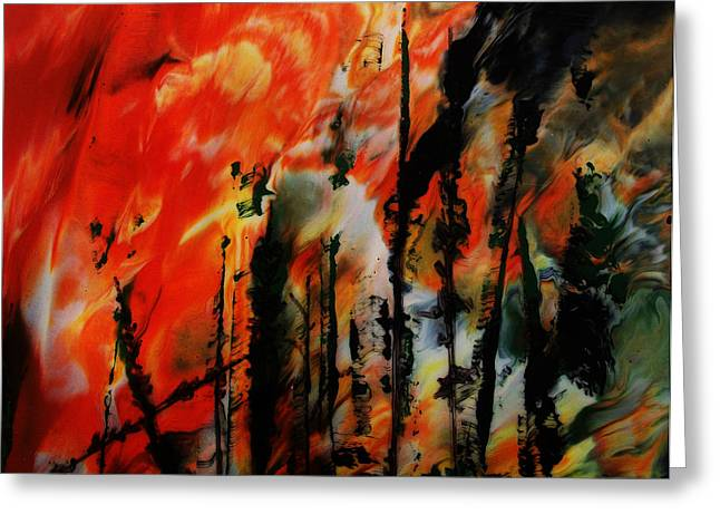 Wildfire 8 Greeting Card by Chad Rice