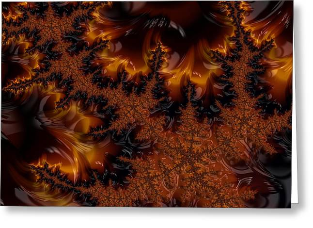 Greeting Card featuring the digital art Wildfire by Owlspook