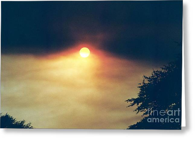 Greeting Card featuring the photograph Wildfire Smoky Sky by Kerri Mortenson