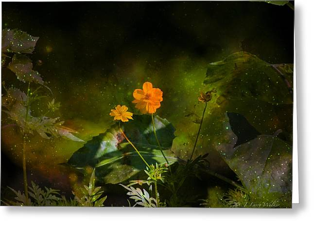 Greeting Card featuring the digital art Wildflower In The Twilight Zone by J Larry Walker