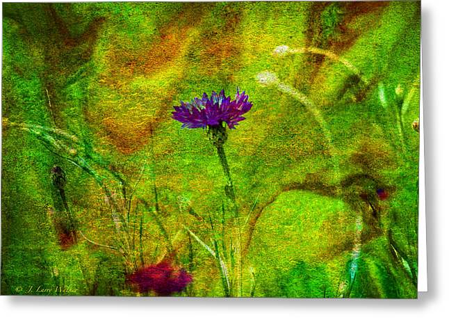 Greeting Card featuring the digital art Wildflower Pettifoggery by J Larry Walker