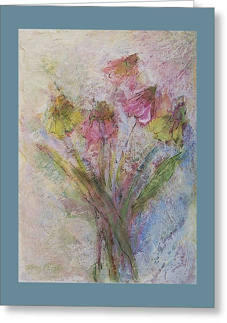 Greeting Card featuring the painting Wildflowers 2 by Mary Wolf
