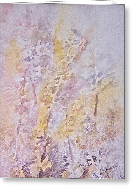 Greeting Card featuring the painting Wildflowers by Carolyn Rosenberger