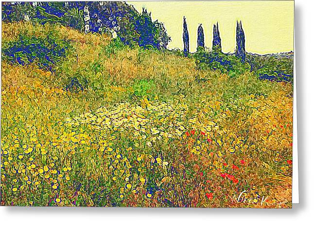 Wildflowers In Italy Greeting Card by Nikki Keep