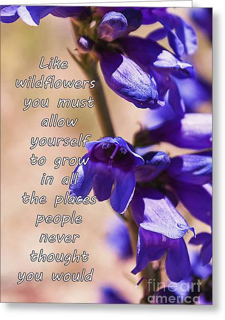 Wildflowers Greeting Card by Janice Rae Pariza