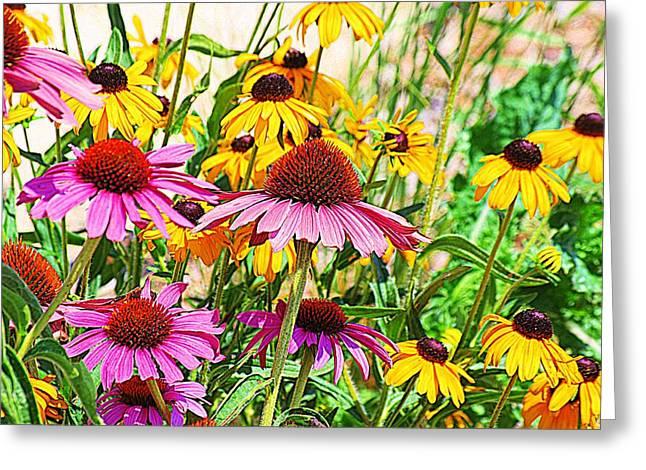 Wildflowers Greeting Card by Karen McKenzie McAdoo